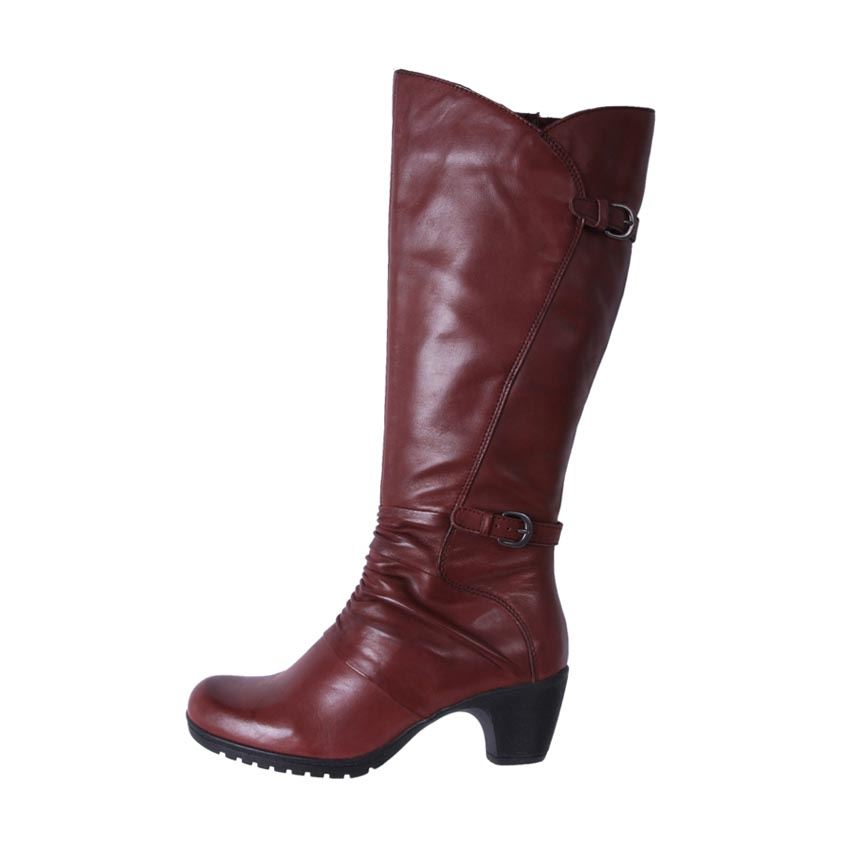 Planet-Shoes-Womens-Comfort-Leather-Mid-Calf-Boots-Dame-Merlot-Cheap