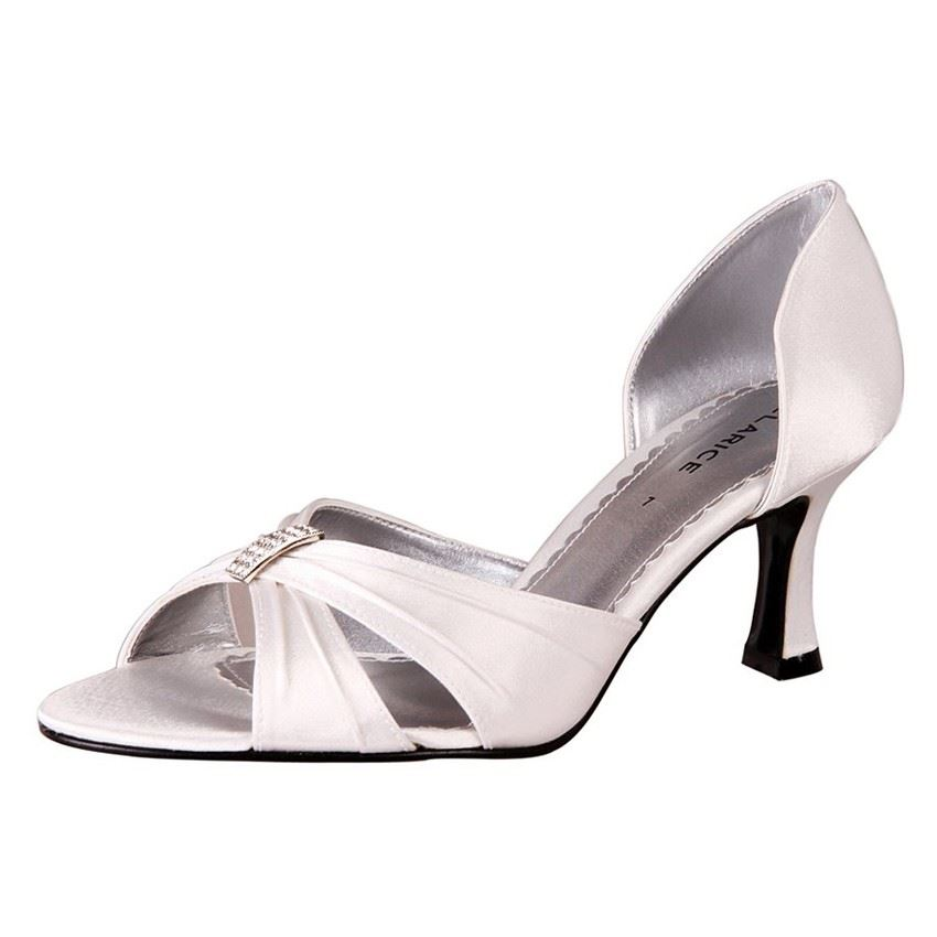 New Clarice Women's Kitten Heel Wedding Bridal Shoe Allum