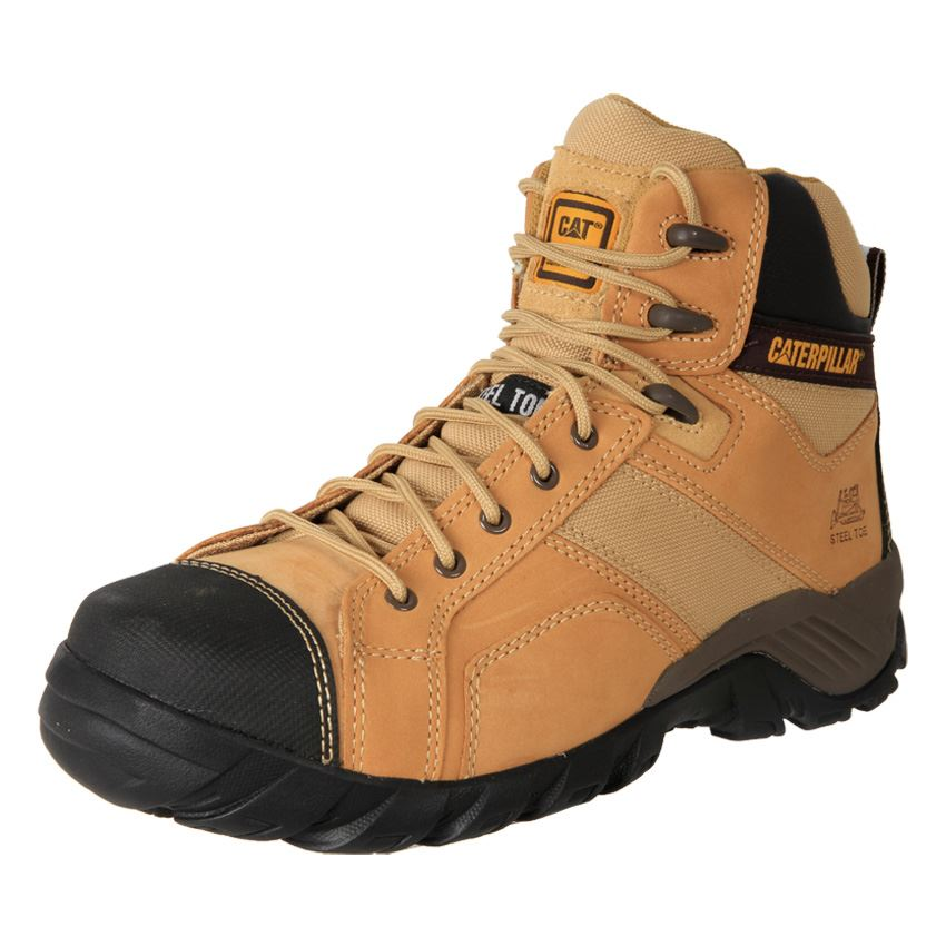 New Caterpillar CAT Argon Hi Comfort Steel Toe Zip Safety Work ...