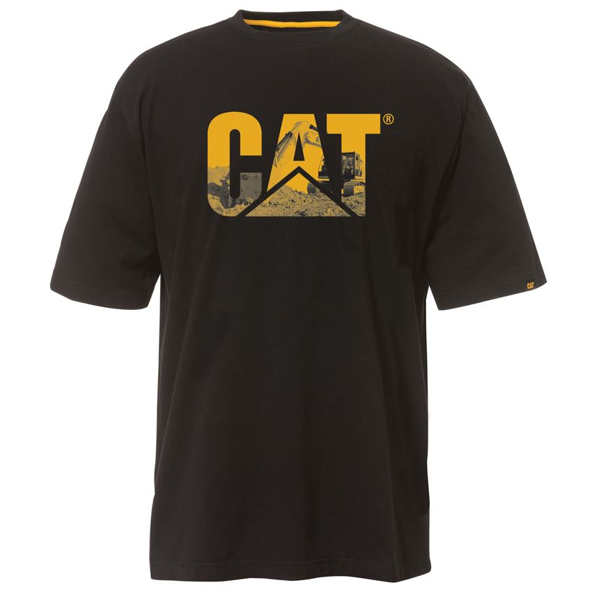 new caterpillar men 39 s custom logo tee work t shirt cheap
