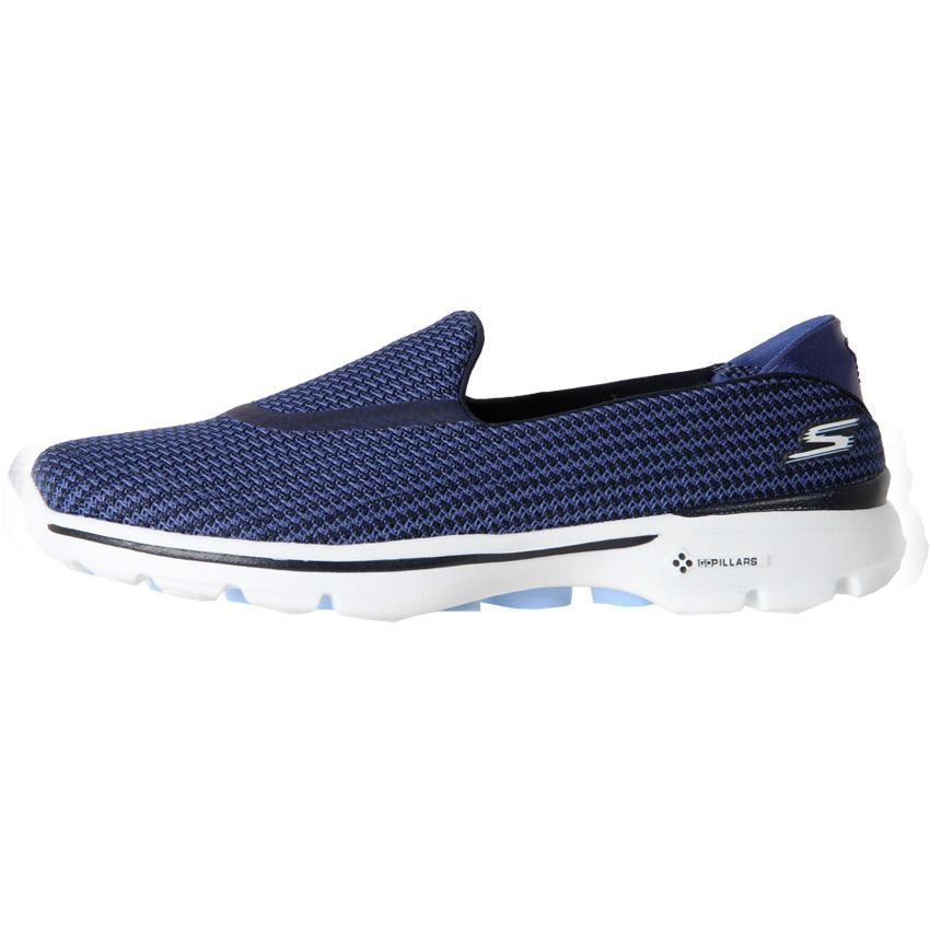 Brand-New-Skechers-Womens-Walking-Shoe-Slip-On-Sneaker-GoWalk3-Fitknit