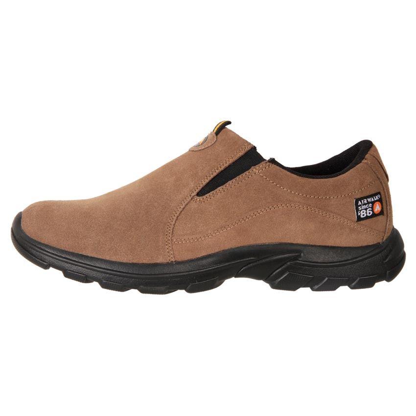 airwalk s comfort leather suede slip on casual shoe