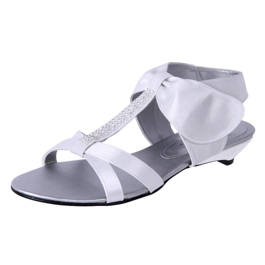 New Clarice Women's Flat Comfort Satin Wedding Bridal Shoe
