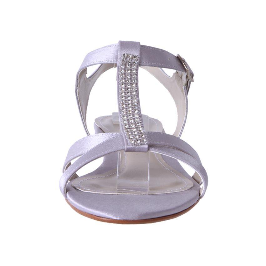 New Clarice Womens Low Heel Satin Comfort Bridal Wedding Deb Shoe Jess Cheap