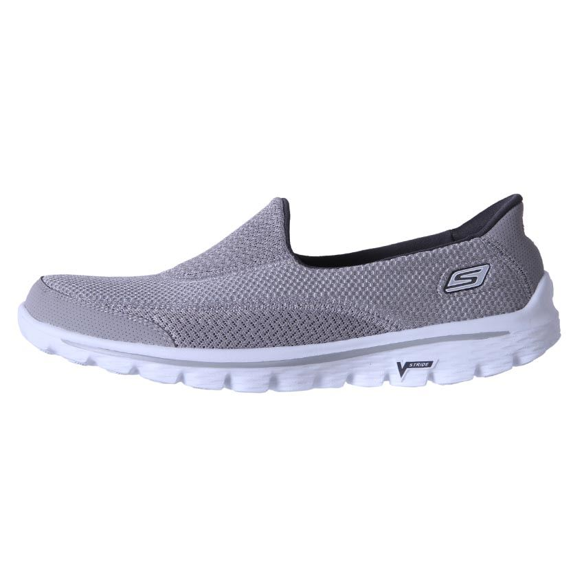 Zapatos grises casual Skechers para mujer WiqIsFQ3F