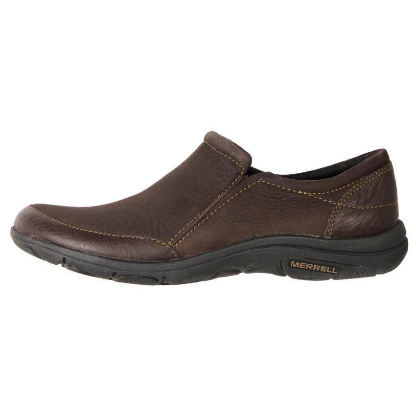 new merrell s leather comfort slip on duty work shoe