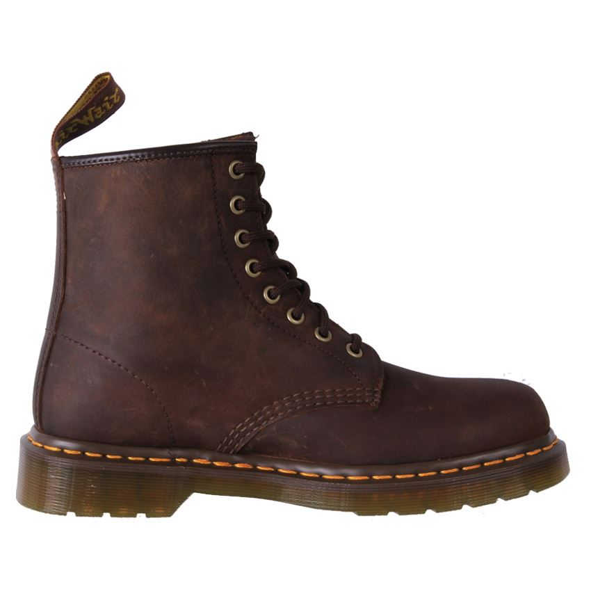 new genuine dr martens doc unisex waxy crazy horse leather 1460 8up boot cheap ebay. Black Bedroom Furniture Sets. Home Design Ideas