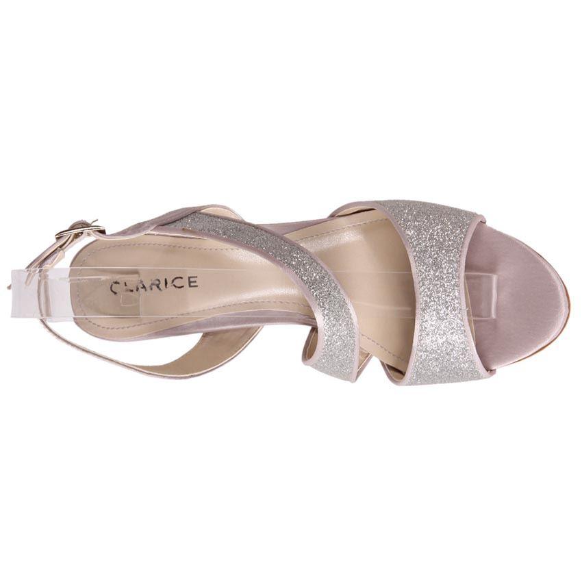 New Clarice Womens Wedge Dress Sandal Wedding Evening Bridal Shoes Blair Cheap