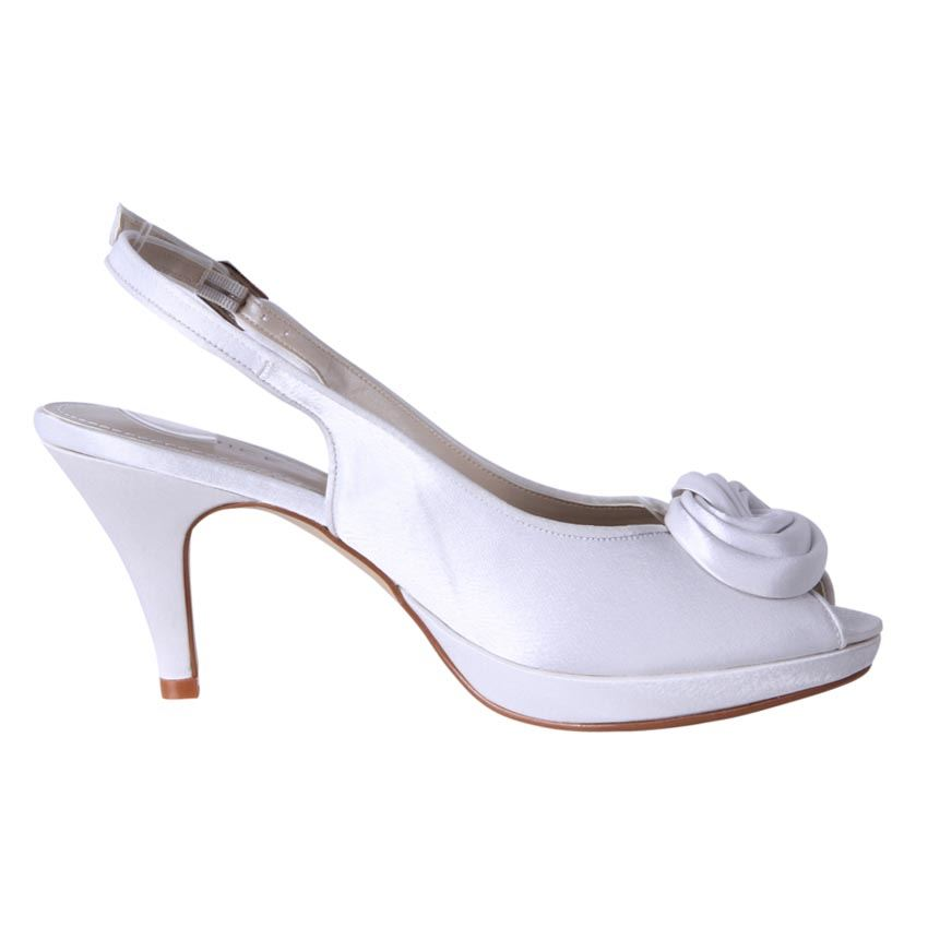 clarice shoes women 039 s rossette slingback satin wedding shoe venus