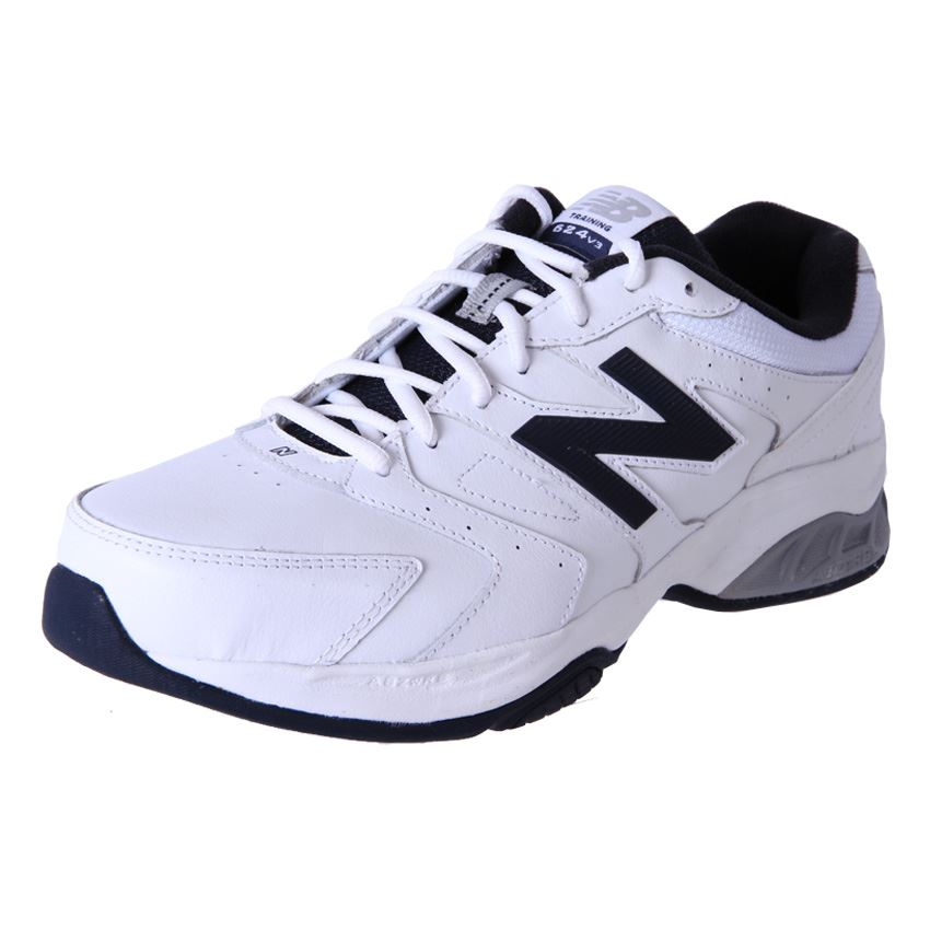Genuine-New-Balance-Mens-Leather-Wide-Cross-Trainers-Running-Shoes-MX624WN3