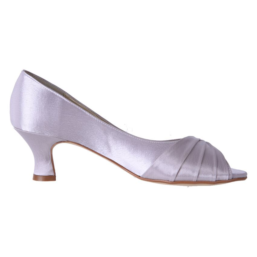 New Clarice Womens Low Heel Comfort Satin Wedding Deb Shoe Keely Cheap