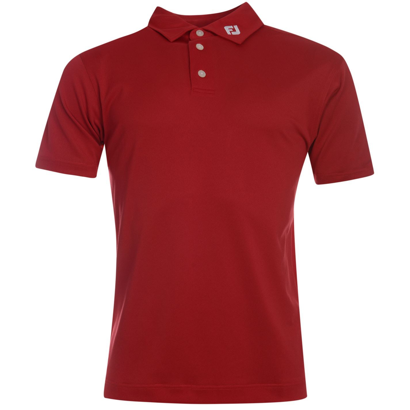Footjoy solid golf polo shirt mens red top t shirt shirt for Best polo t shirts for men