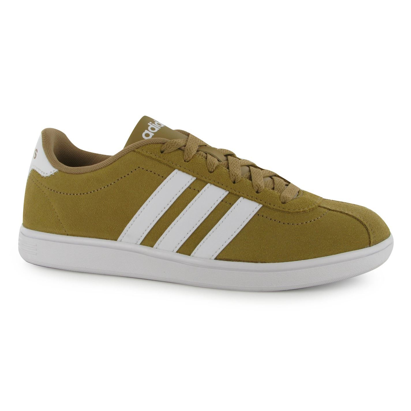 adidas vl neo court suede trainers mens canvas white casual sneakers shoes ebay. Black Bedroom Furniture Sets. Home Design Ideas