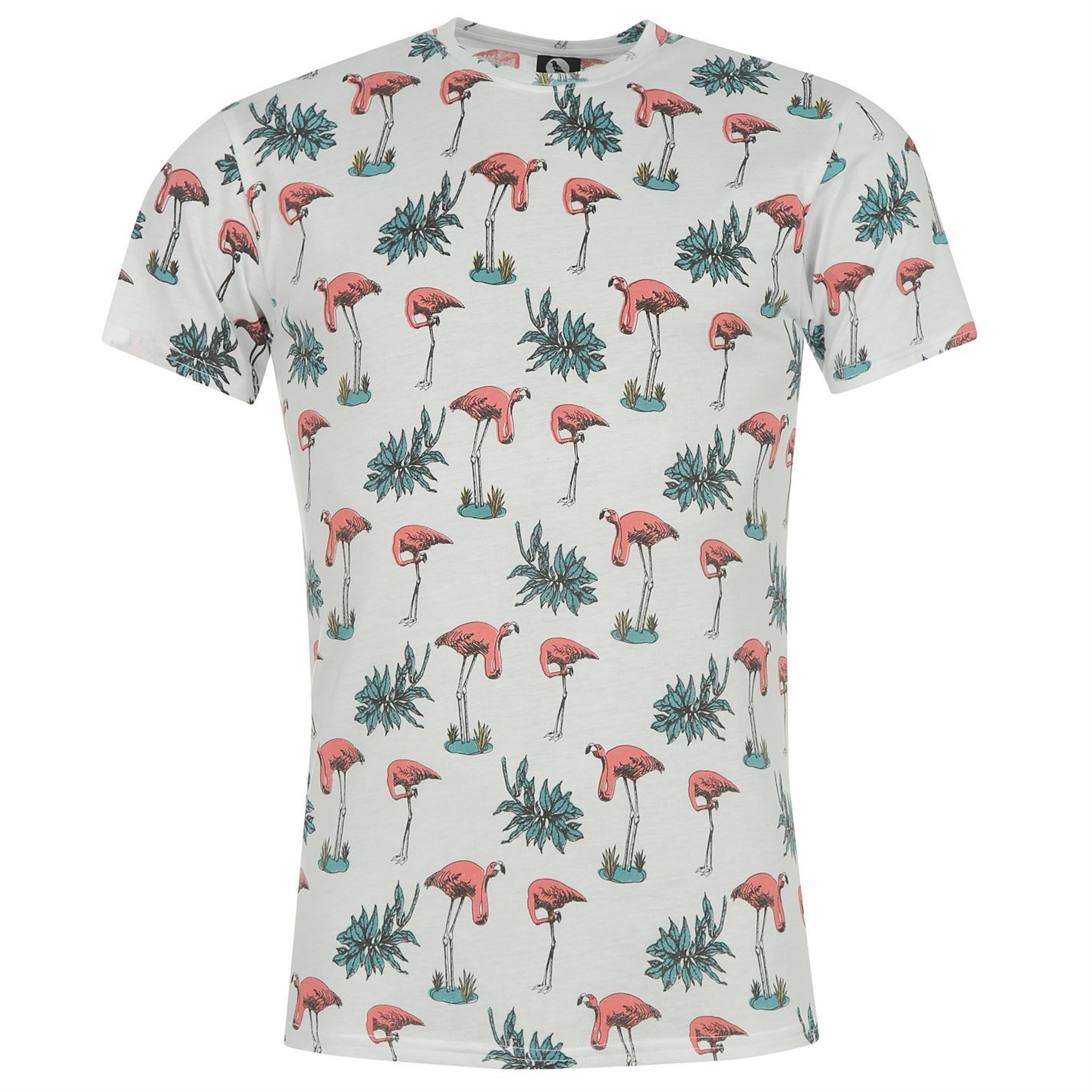 Fearless Illustration All Over Print T Shirt Mens Flamingo