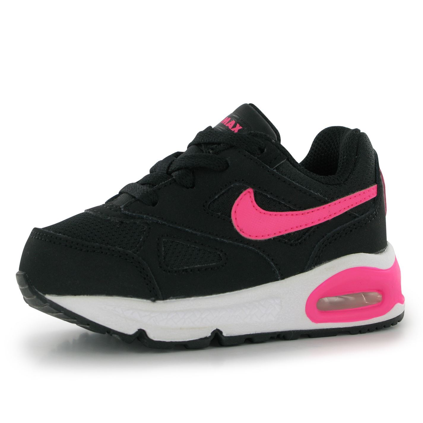 nike air max ivo trainers infants girls black pink baby. Black Bedroom Furniture Sets. Home Design Ideas