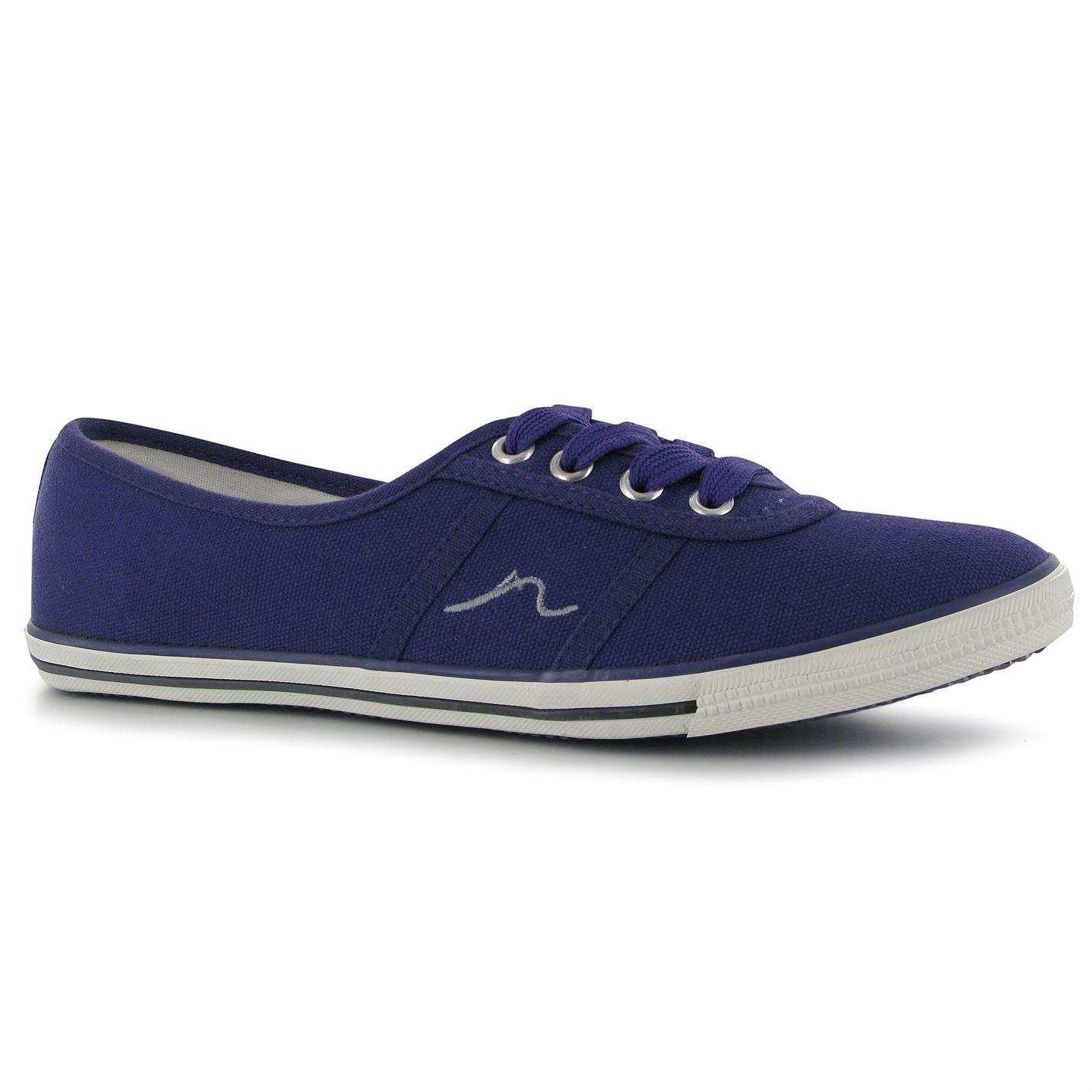 Kangol Lace Ballet Shoes Womens Purple Pumps Flats Slip On Plimsoles