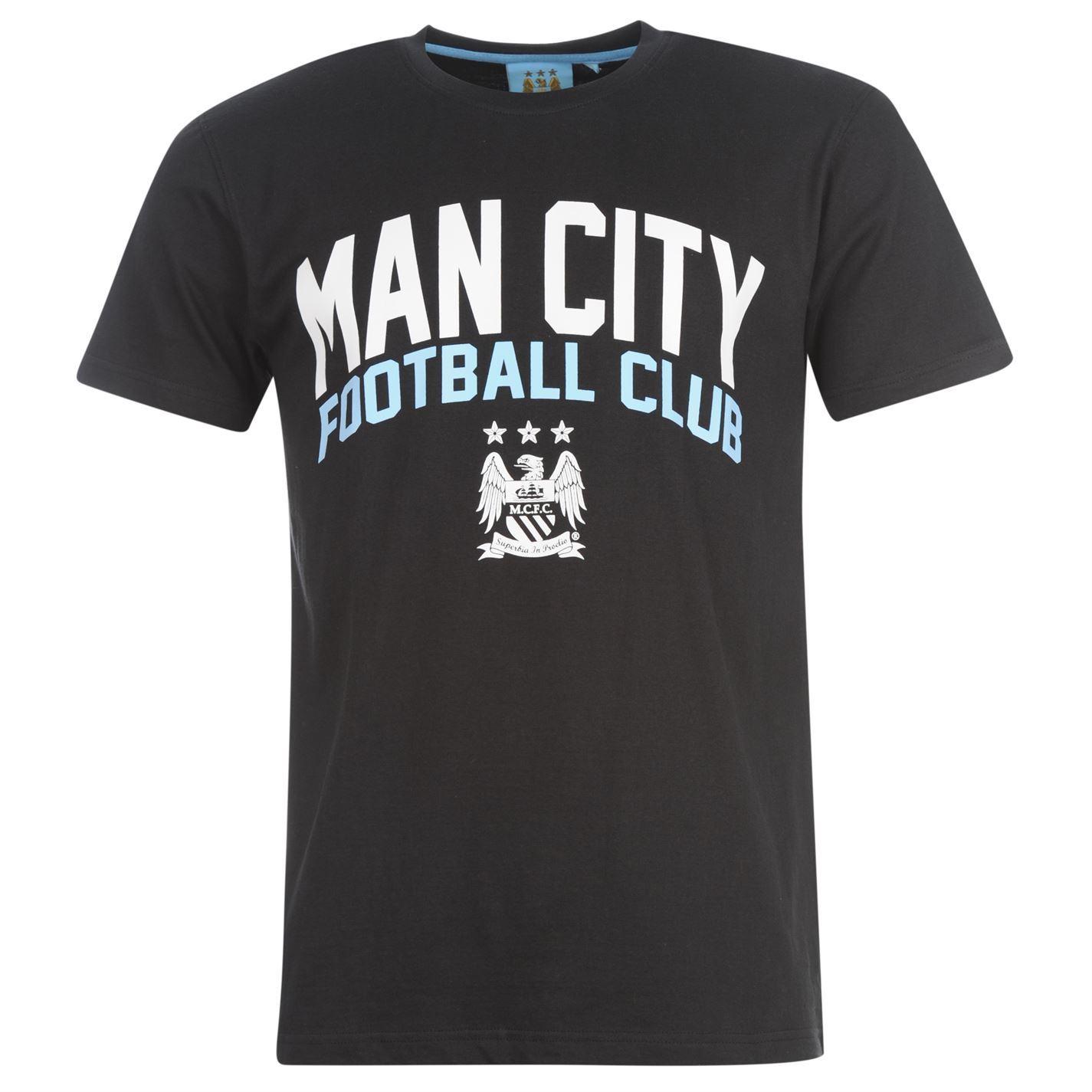 Manchester City Fc Source Lab Graphic T Shirt Mens Black