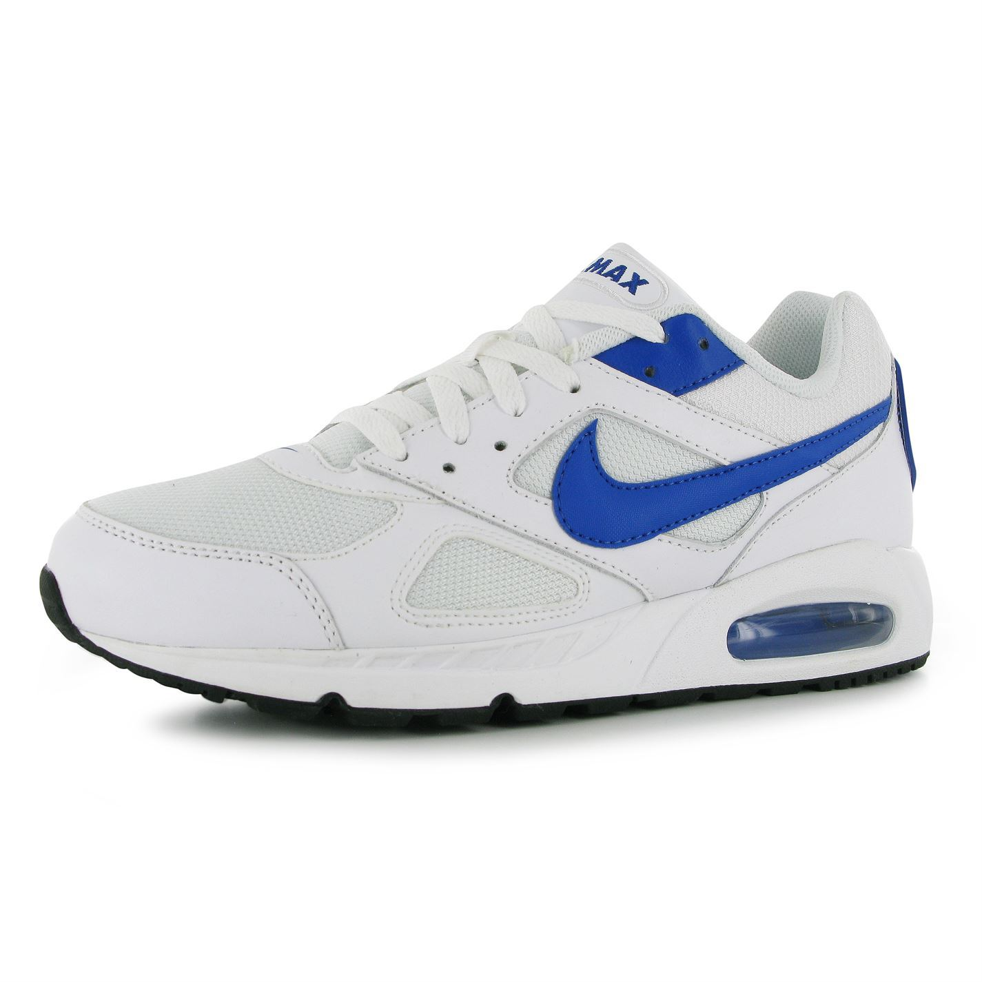 nike air max ivo trainers mens white royal sneakers shoes. Black Bedroom Furniture Sets. Home Design Ideas
