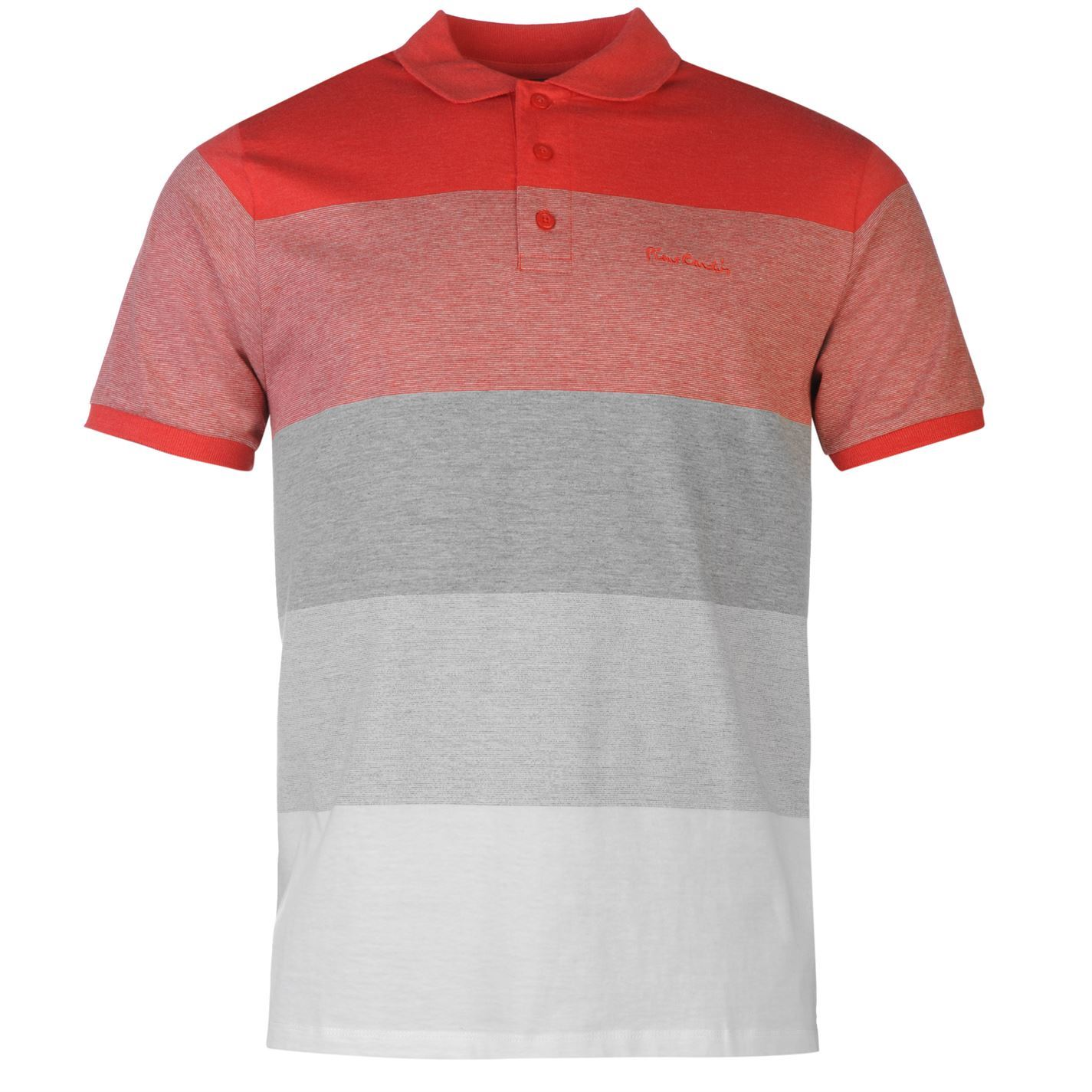 pierre cardin panel polo shirt mens red grey top t shirt. Black Bedroom Furniture Sets. Home Design Ideas