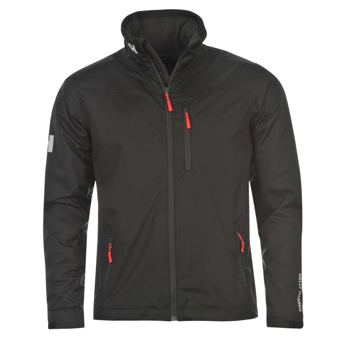 Helly Hansen Crew Waterproof Jacket Coat Mens Black Ebay