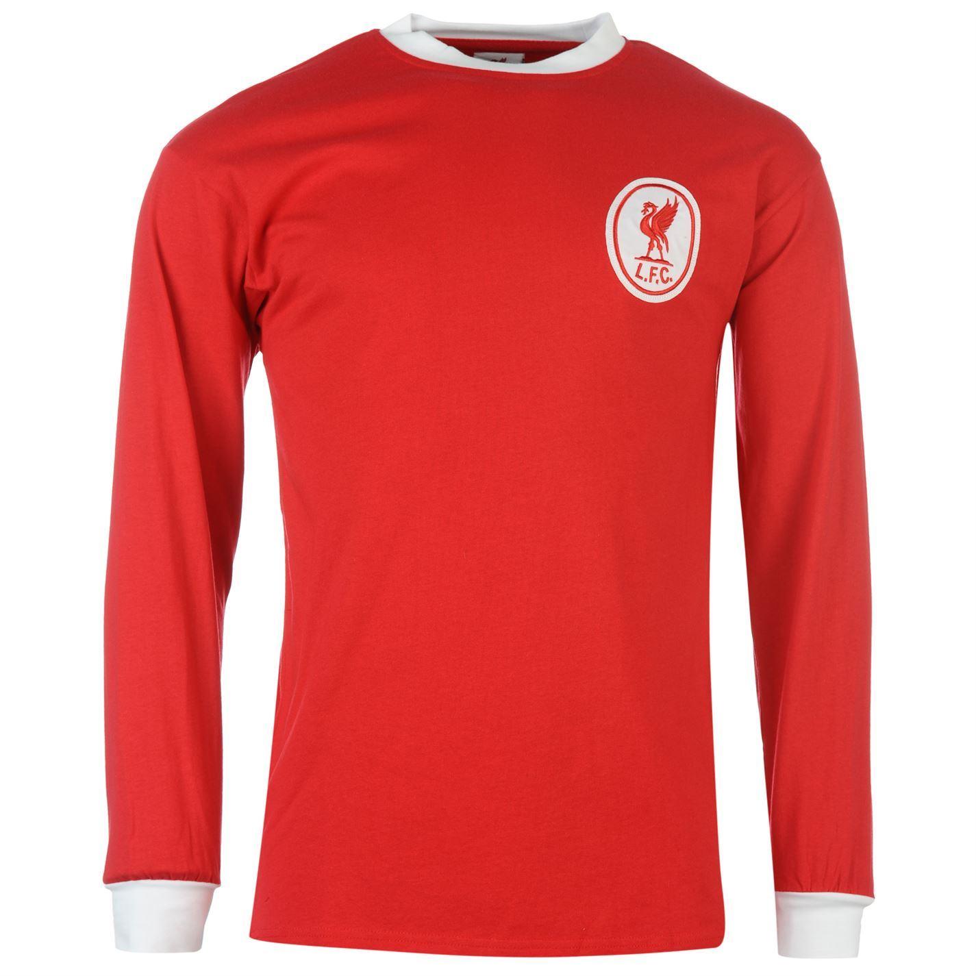 Liverpool Fc  Home Jersey Score Draw Mens Redwht Retro Football