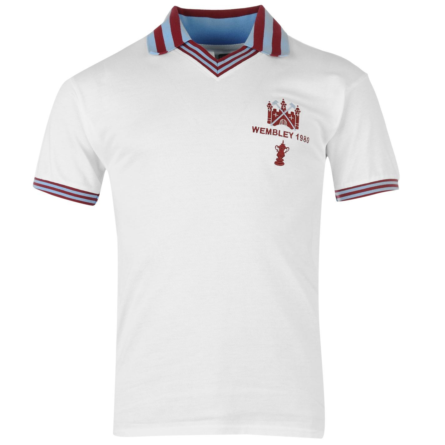 West Ham United FC Retro Wembley 1980 FA Cup Final Jersey ...