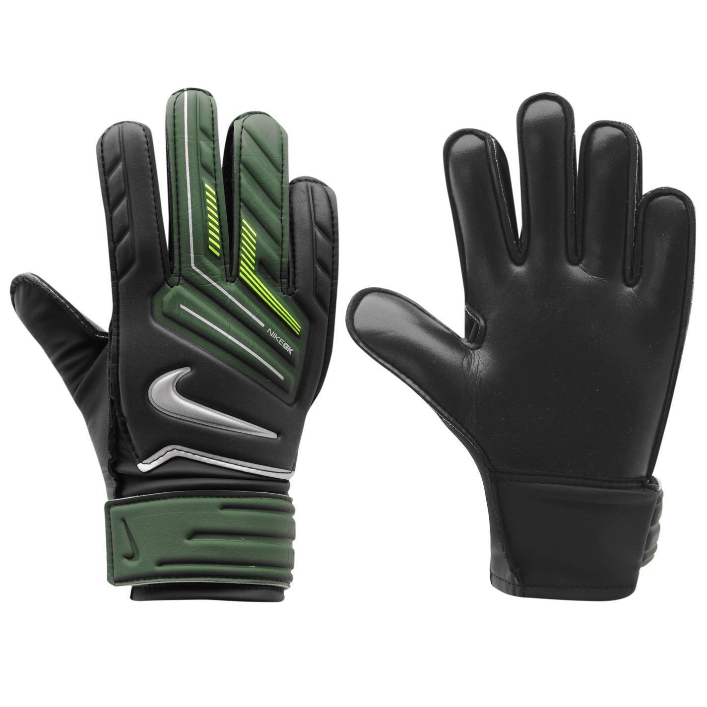 Nike Knitted Gloves Junior: Nike Match Goalkeeper Glove Junior Black/Army/Volt