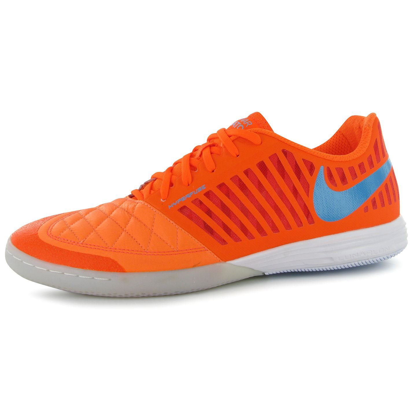 Nike 5 Lunar Gato II Mens Indoor Futsal Football Trainers Orng/Blu Soccer  Boots