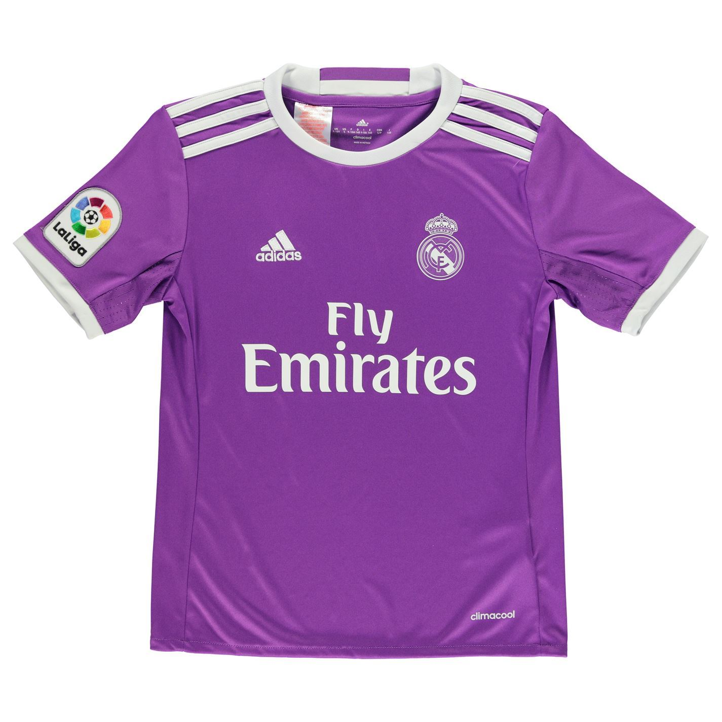 Adidas Real Madrid Away Jersey Enam Tujuh Juniors Purple
