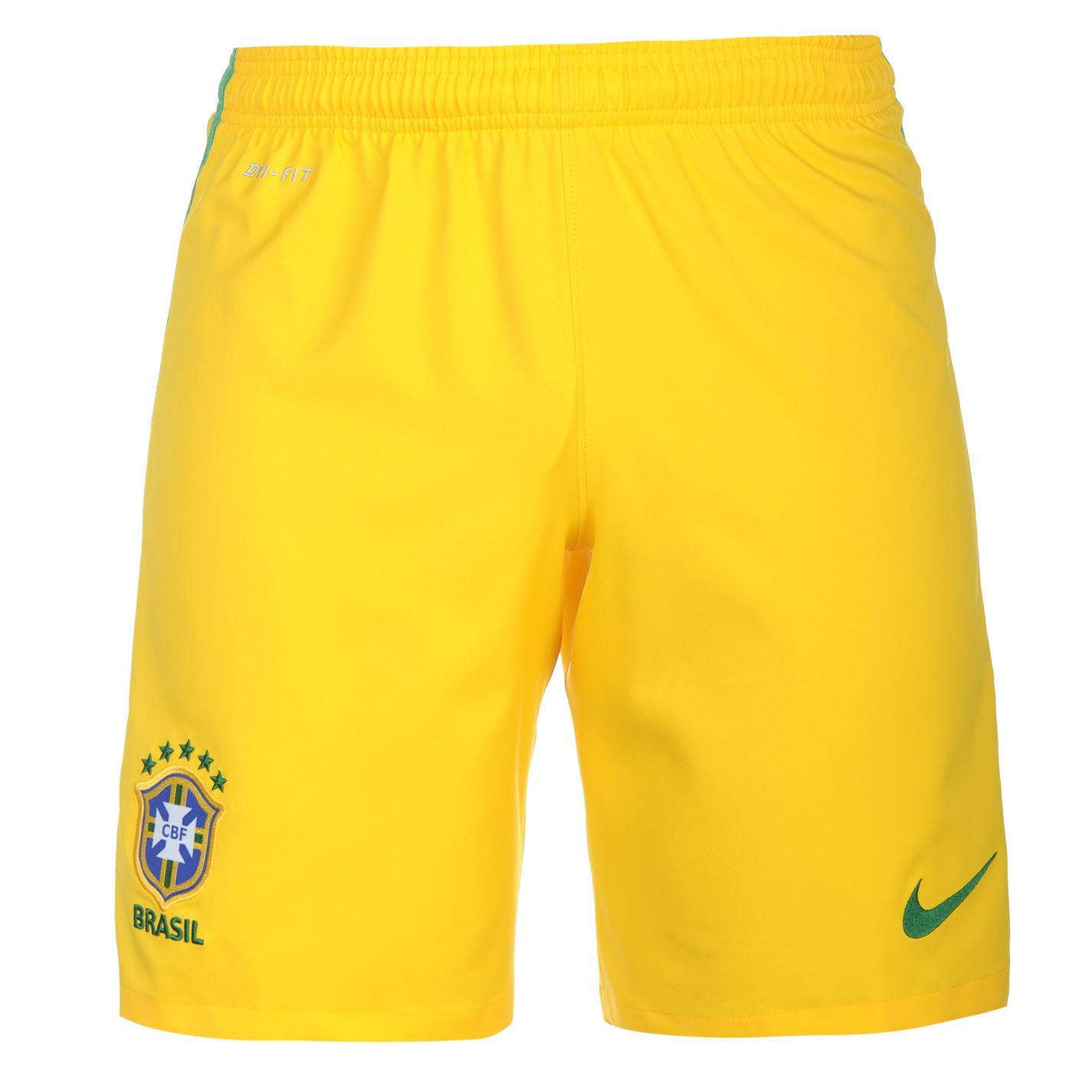 Nike Brazil Home Shorts 2016 Mens Yellow Football Soccer ...
