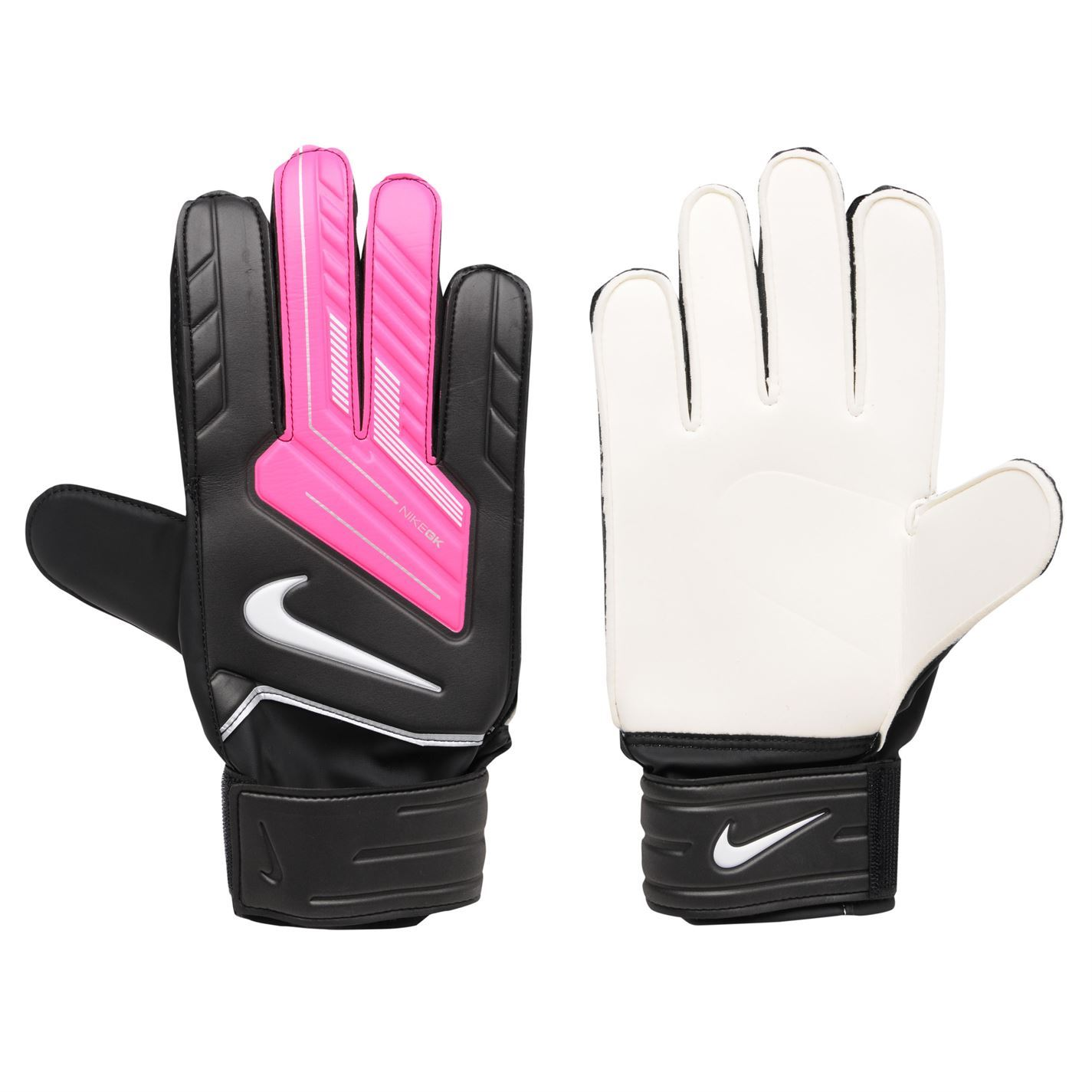 Nike Soccer Gloves: Nike Match Goalkeeper Gloves Black/Pink/Whit Football