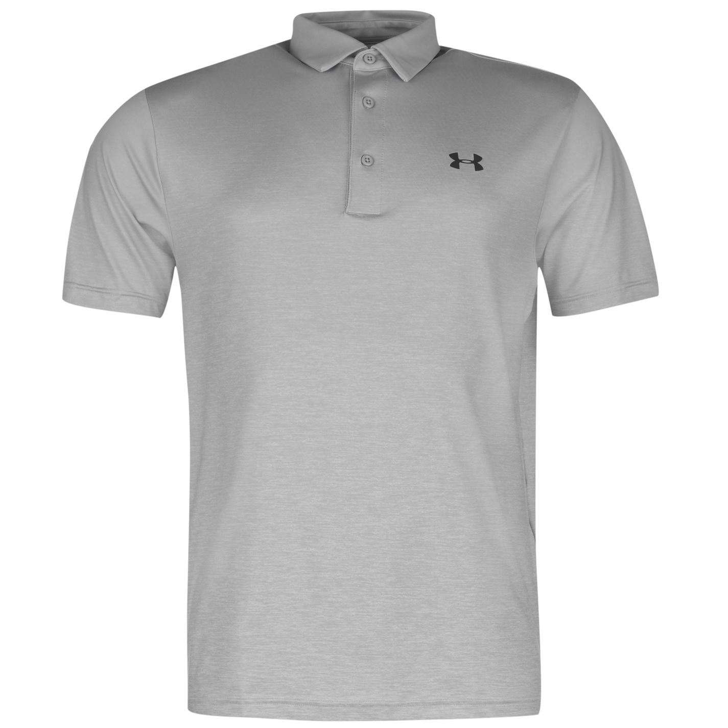 Under Armour Playoff Golf Polo Shirt Mens Grey Top T Shirt