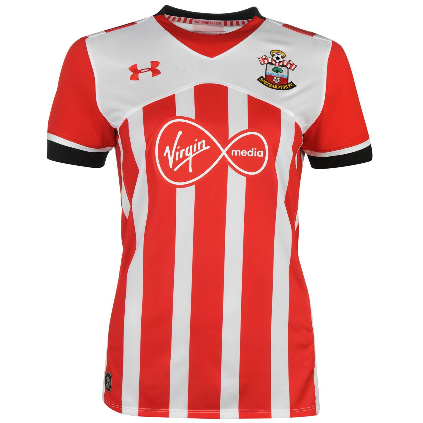 Under armour southampton fc home jersey 2016 2017 womens for Under armor football shirts