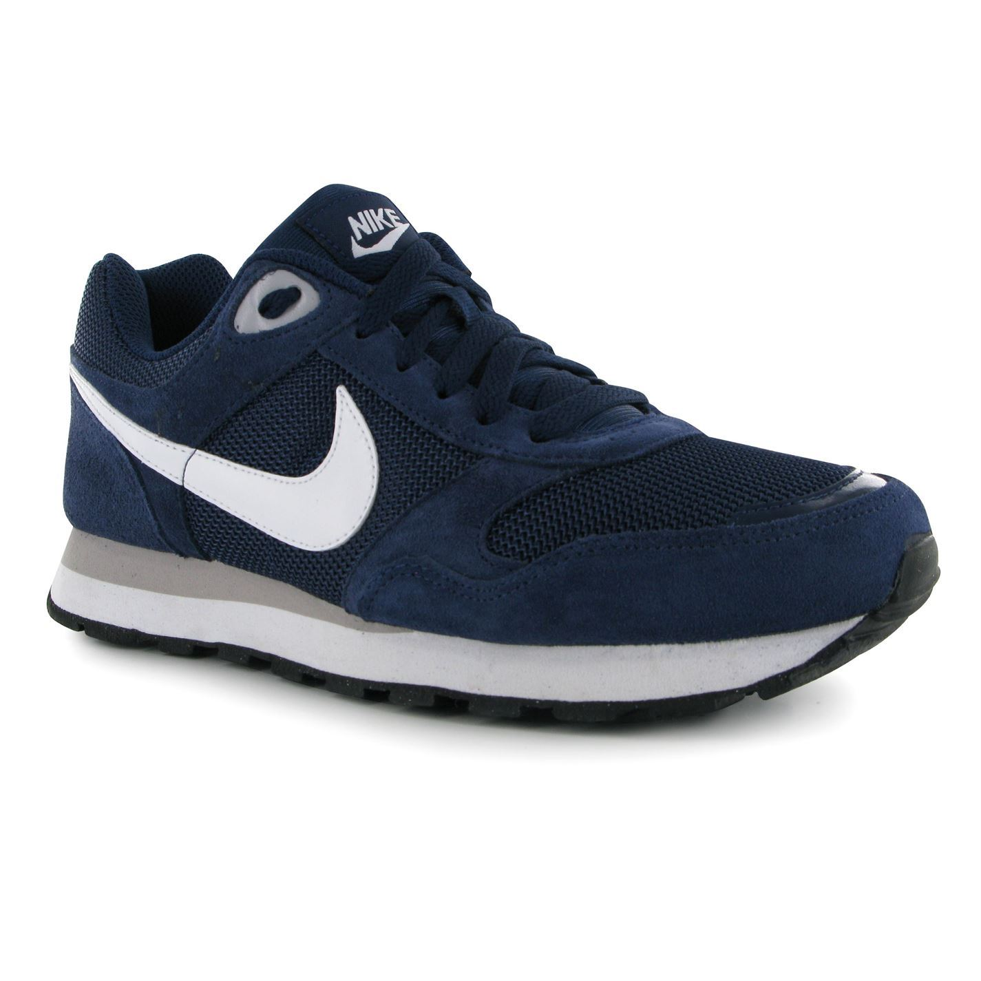 nike md runner textile shoes trainers mens navy white. Black Bedroom Furniture Sets. Home Design Ideas
