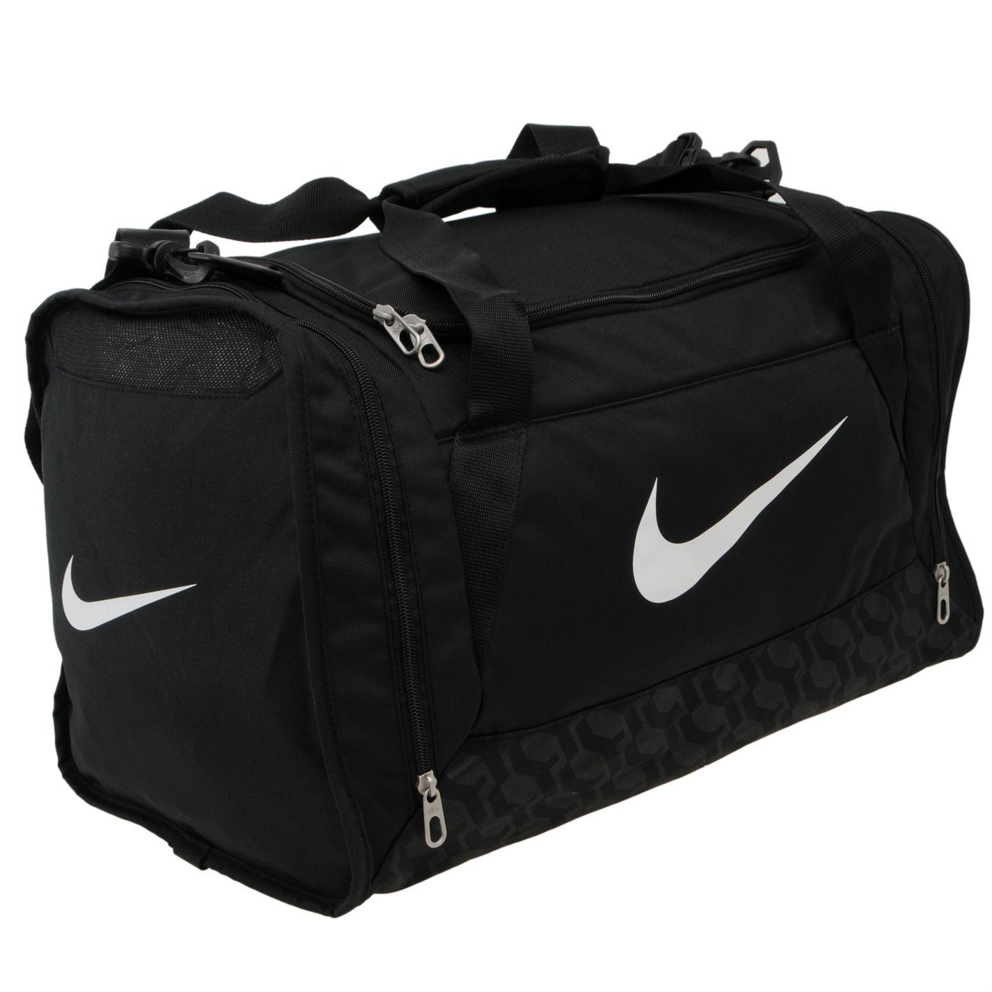 nike brasilia small grip bag black gym sports bag genuine ebay. Black Bedroom Furniture Sets. Home Design Ideas