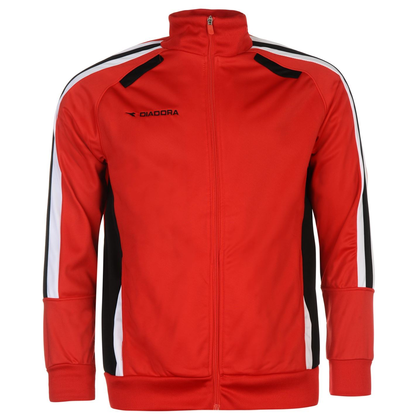 Diadora Cape Town Track Jacket Mens Red Black Zip