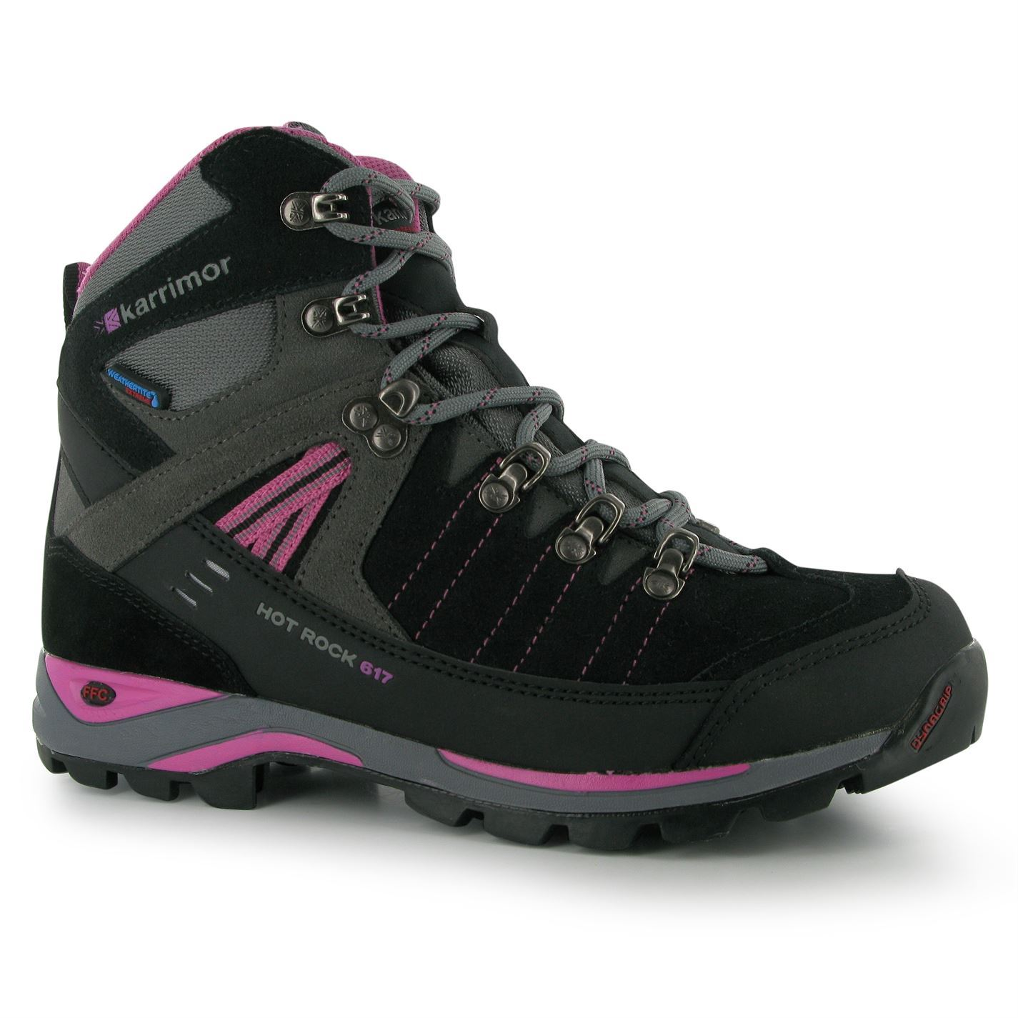 karrimor rock walking boots womens charcoal pink