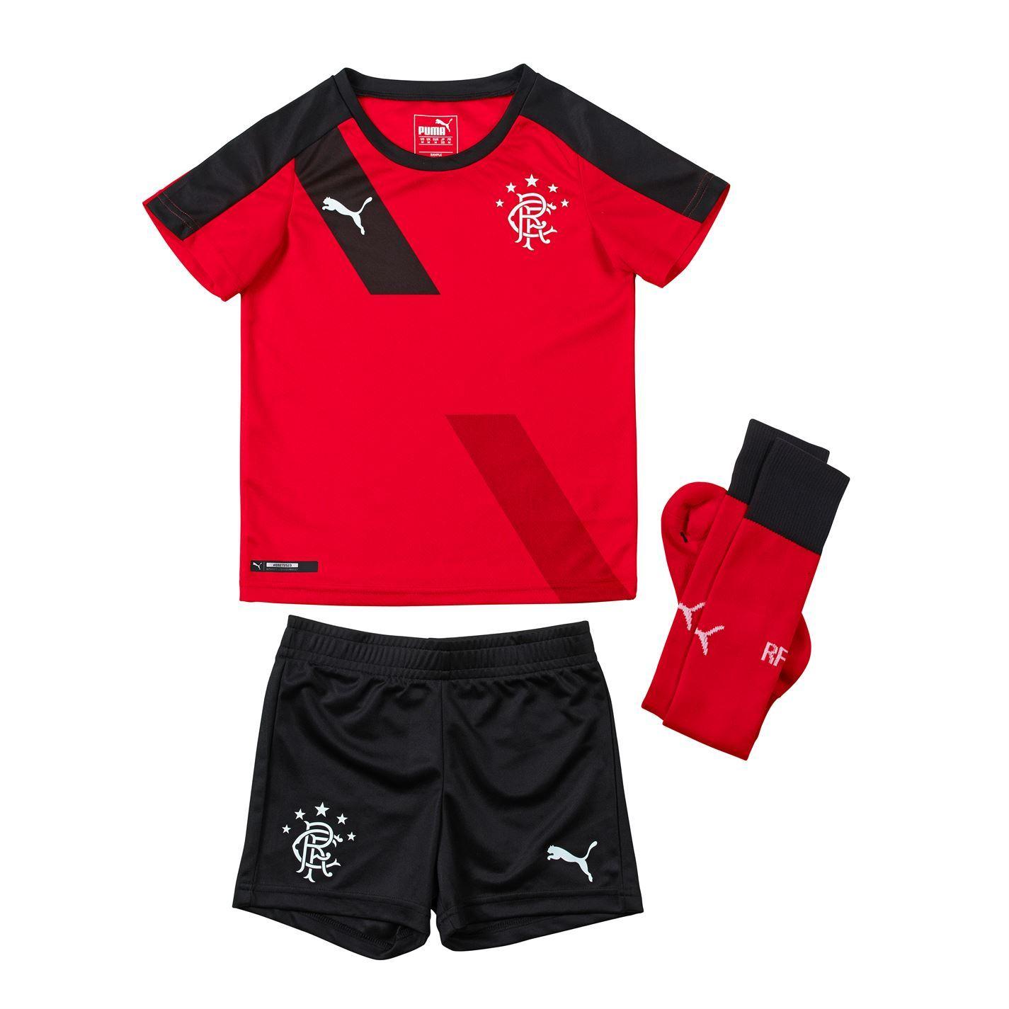 puma glasgow rangers fc away kit 2015 2016 mini childs red black football soccer ebay. Black Bedroom Furniture Sets. Home Design Ideas