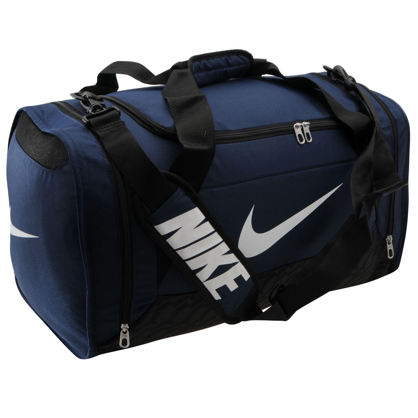 nike brasilia 6 medium grip duffle bag navy holdall
