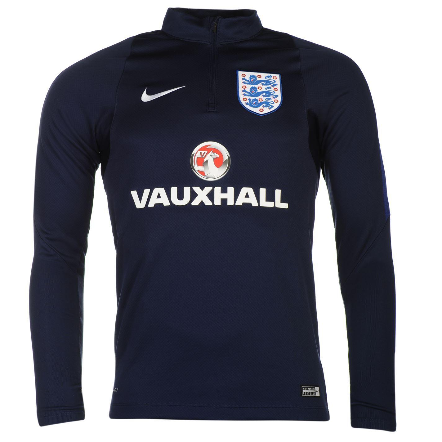 Nike England Mens Drill Training Sweatshirt Mens Navy/Royal Football Soccer Top