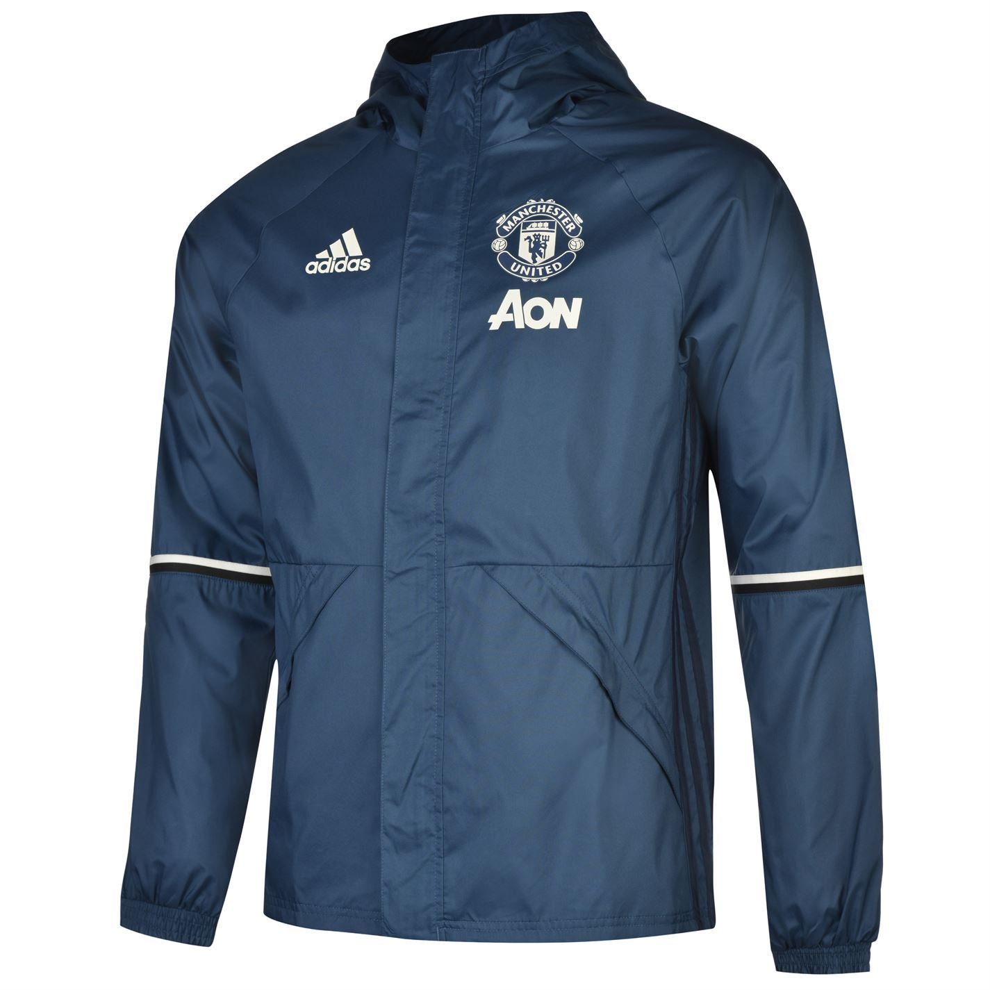Adidas Manchester United FC Away Jacket 2016 2017 Mens Blue/Navy Football Soccer | EBay