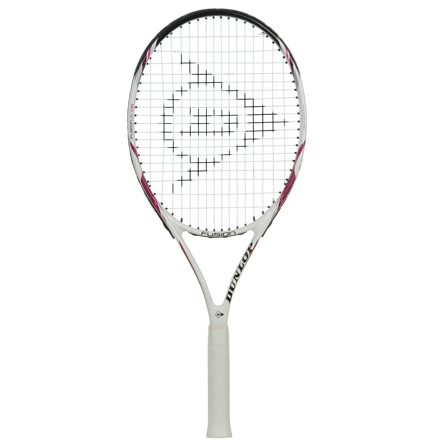 Dunlop Fusion G108 Tennis Racket Raquet White Pink | eBay