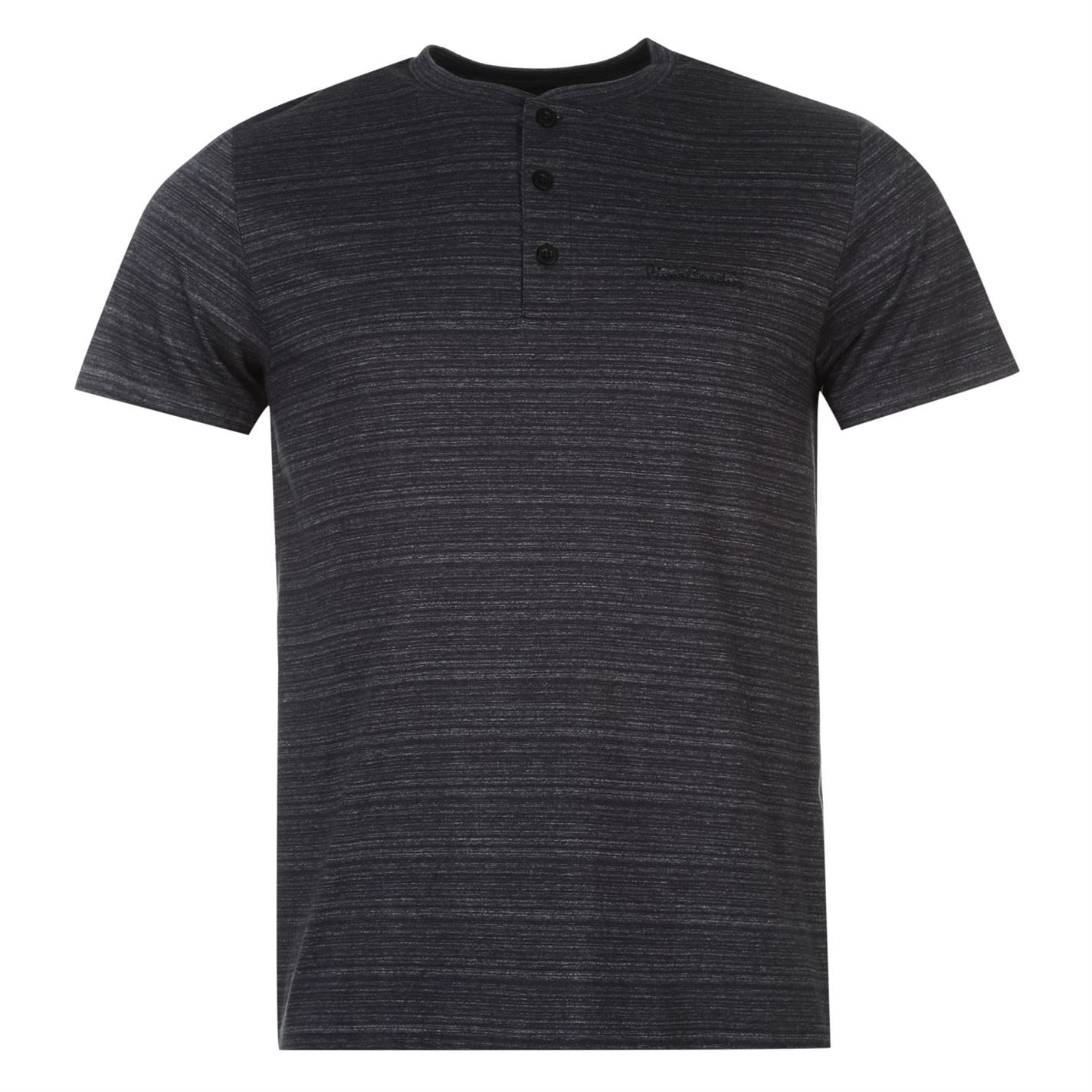 pierre cardin henley t shirt mens navy top tee shirt. Black Bedroom Furniture Sets. Home Design Ideas