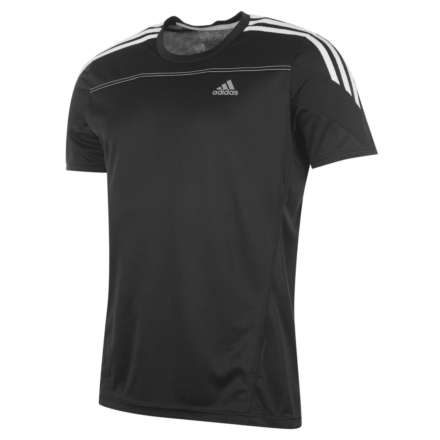 Adidas rsp ss t shirt mens black white top tee tshirt ebay for Best white t shirt mens