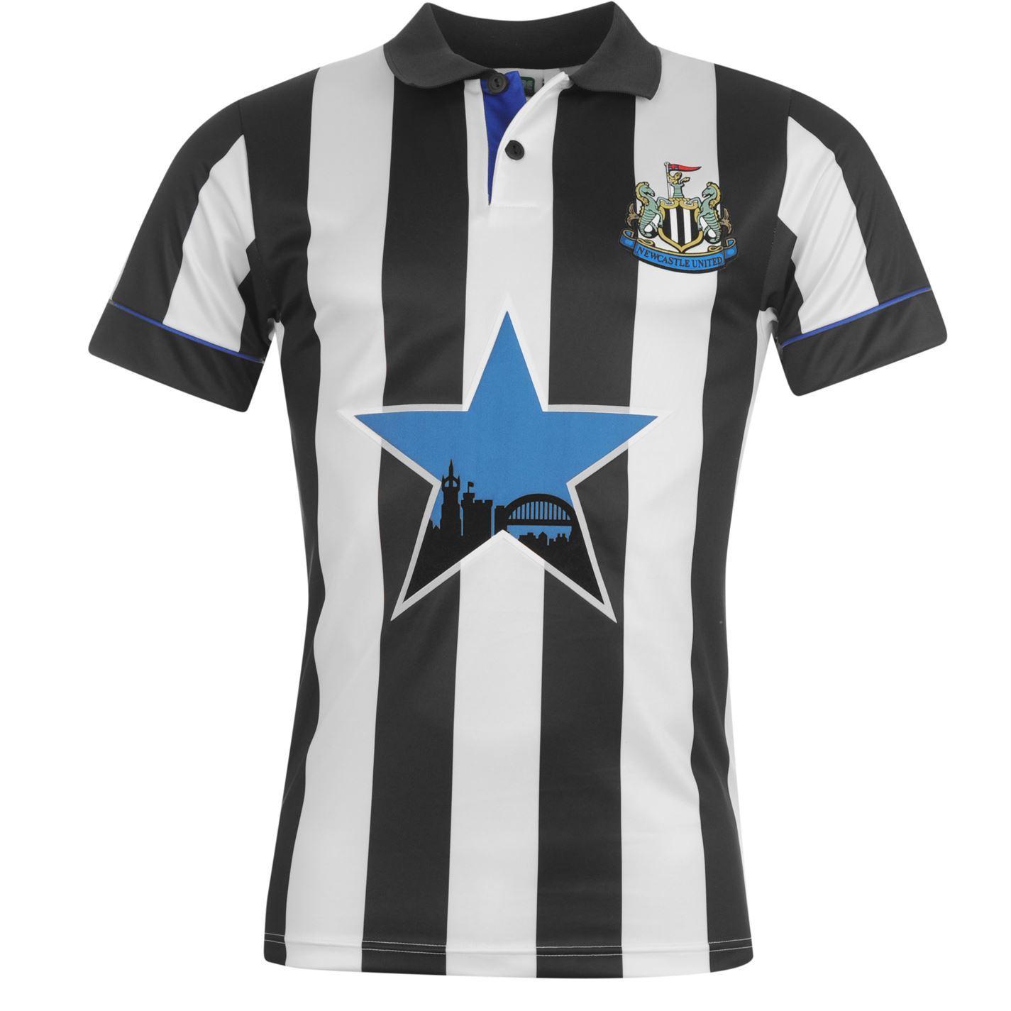 Newcastle United FC 1994 Home Jersey Score Draw Mens Retro ...