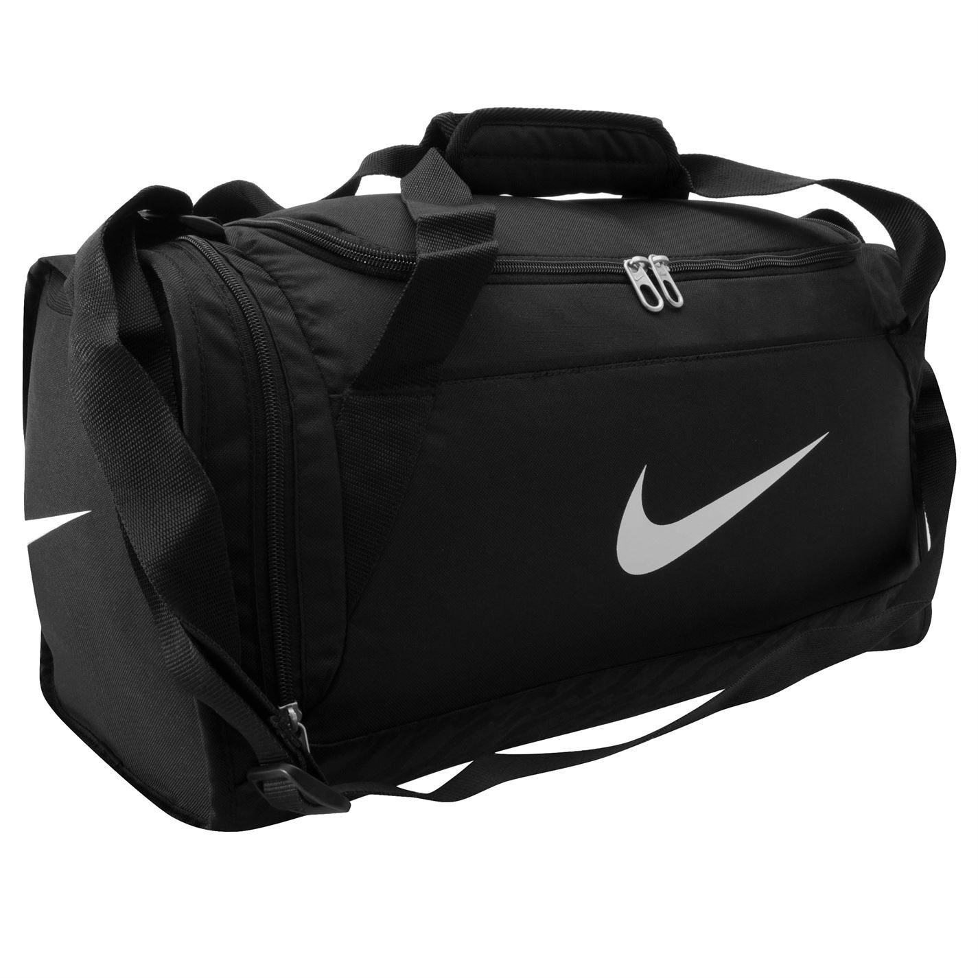nike brasilia xs grip duffle bag black white gym sports bag genuine ebay. Black Bedroom Furniture Sets. Home Design Ideas