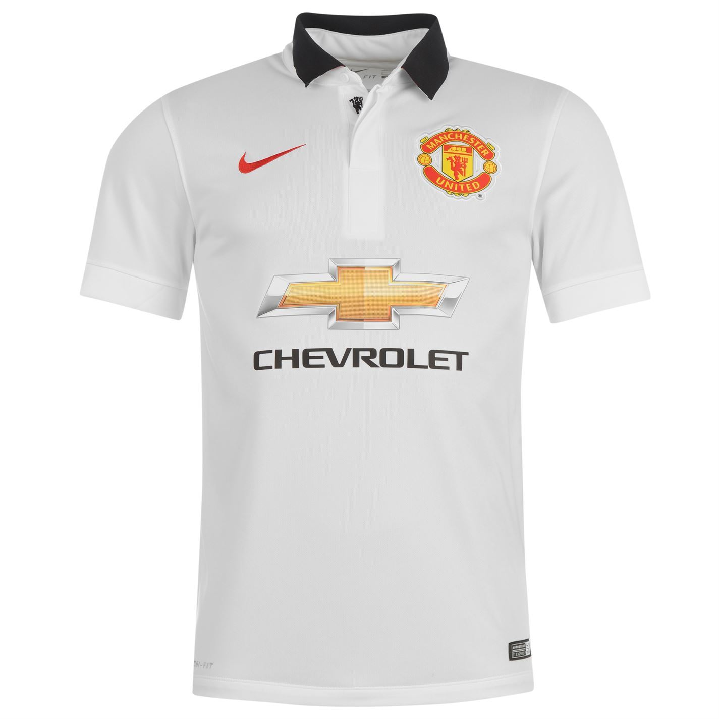 Nike Manchester United para hombre Lejos Jersey 2014 2015 Blanco ...