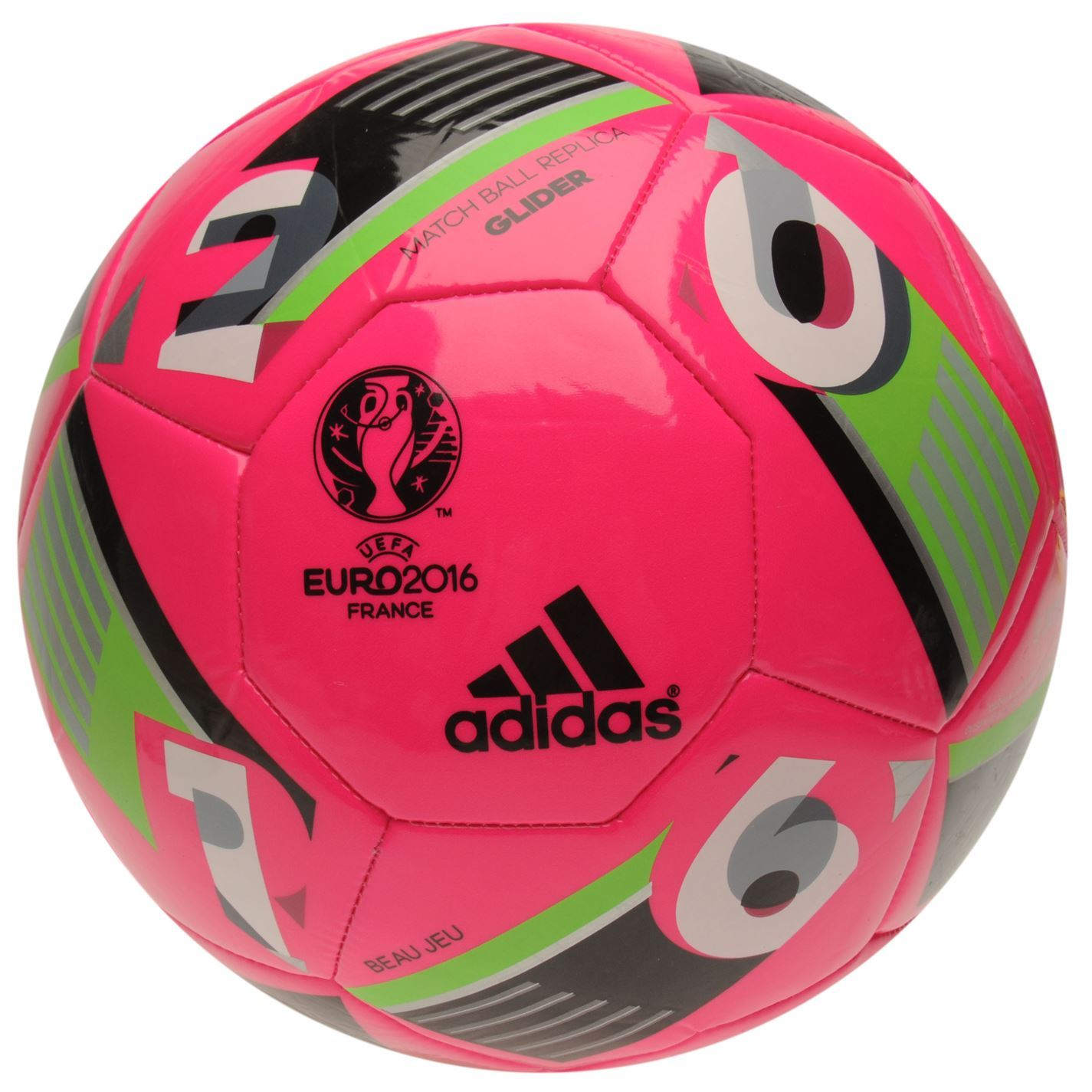 adidas uefa euro 2016 glider football shock pink soccer. Black Bedroom Furniture Sets. Home Design Ideas