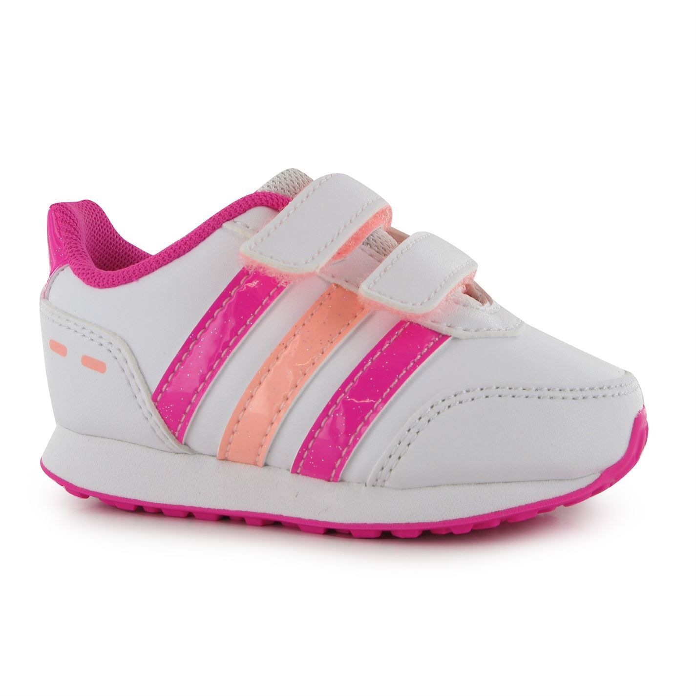 Adidas Switch Syn Trainers Infant Girls WhitePinkOrange Sneakers Sports Shoes