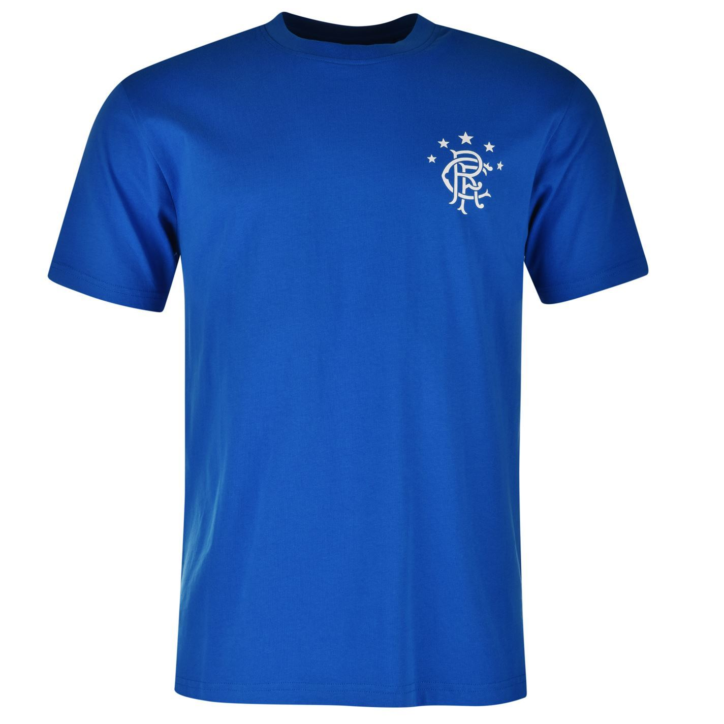 Glasgow rangers fc small crest t shirt juniors royal top for Rangers t shirts women s